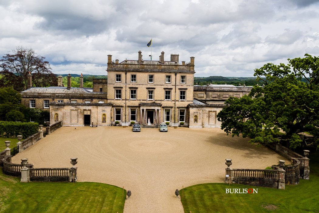 Aerial view Somerley House