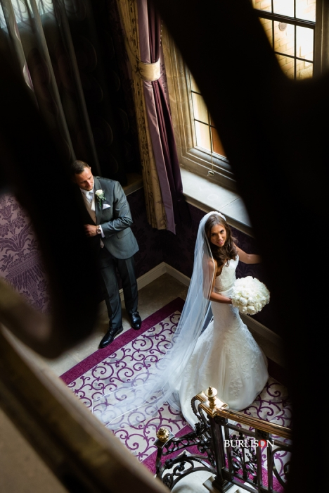 Bride & groom at Pennyhill Park